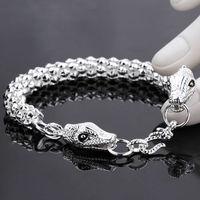 Men Jewelry 8Inch Double Dragon Bracelets New 925 Sterling Silver Personal Bracelet Fashion Bracelets Jewelry For Men