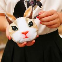 2014 new fashion animal coin purse 3D printing deer/squirrel/owl/hamster wallet women cloth small bag girl cartoon clutch bag