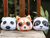 Retail or mix wholesale animal panda fashion zipper coin wallet coin purses cute cat change purse bag for women