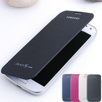 Original Flip Leather Back Cover Battery Housing Case For Samsung Galaxy S4 SIV I9500 9500 Phone Bags Cover mini I9190 9190