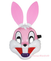 Easter Pink Long Ear Rabbit Bunny Face Mask Halloween Party Kids Toy Costume MAAC0117
