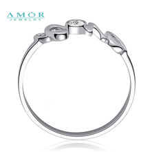 AMOR BRAND THE FLOWER OF LOVE SERIES 100 NATURAL DIAMOND 18K WHITE GOLD RING JEWELRY JBFZSJZ274