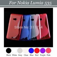 200pcs/lot Free Shipping Flexible Crystal Transparent TPU Skin Case Cover for Nokia Lumia 535