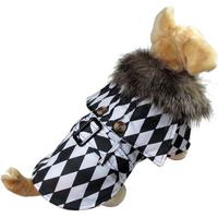Pet Dog Coat Autumn And Winter Warm Pet Clothes Cotton Cloak Dog Clothing Fashion Outfit Wholesale Apparel Red Size S M L XL
