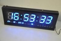 HIGHLY PRECISE   Modern Large Big LED Digital Calendar Wall Clock 48 X 18.5 X 5CM