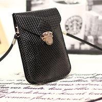 Black Mini Cross-body Bag Purse Wallet Shoulder Bag Mobile Phone Coin Card Bag