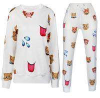 BOB SHOP  TOP QUALITY 2014 New Fashion Autumn Womens emoji 3d Printed Sweatshirt Hoodies emoji Women pullover Suits sportwear