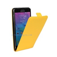 """Yellow PU Case For Cheap MTK6572 Android OS 4.4 RAM 512MB ROM 8GB 1.3GHz NOTE4 5.5"""" 1280*720 8MP N910 phones with Smart Case"""