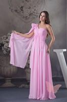 Mature single shoulder prom dress.