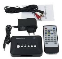 Worldwide Free Shipping ~  720P HD Media Center RM/RMVB/AVI/MPEG Multi Media Video Player with AV USB SD/MMC Port Remote Control