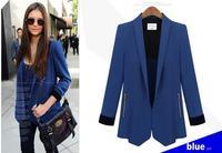 2015 New Slim Women Blazer Suit Jacket Casual Medium-Long Woman Coat Spring Autumn Plus Size Blazers Free Shipping 407