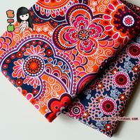 Cloth patchwork cloth bohemia national trend orange flat stripe print cotton cloth 100% cotton diy
