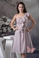 Mini and Maxi single shoulder prom dress.