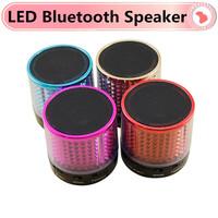 SG-10 Bluetooth Speaker LED TF Card USB FM Portable Mini Bluetooth Speakers Metal Steel Wireless Smart Hands Free Speaker