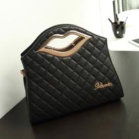 2014 winter fashion female fashion bags personalized bag small plaid messenger bag handbag