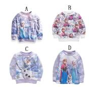 5pcs Children girl's 2015 Spring child girl Frozen long-sleeve t-shirt sweatshirt 11884