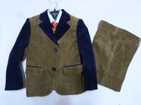 2015 New Four pieces clothing set Children Suits kids Casual suit Baby Boys Blazers suits Outerwear Vest Pant Bow Tie 2-13Years