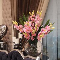 The simulation flower High simulation Cymbidium  home decoration High simulation orchid flowers