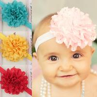 Baby Girls Kids Flower Hairband Soft Elastic Headband Crown Children Hair Accessories Band Gift Coroa De Flores FS2022