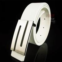 24 style 2014 new fashion black color brand men cowhide PU leather belt automatic buckle metal plate designer belts men