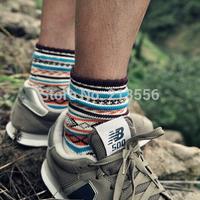 1Pair Hot Autumn Retro Women Ankle Socks Ladies Casual Cotton Socks Cute Striped High Socks Gift Free Ship