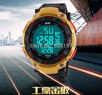 50 meter waterproof wristwatch with EL back light rotation compass decor outdoor men digital watch PC casing PU watchband casual