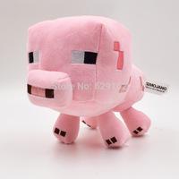 Hot Sale New Minecraft 16 CM Pink Pig Stuffed Plush Dolls Toys My World Brinquedo Doll Holiday Gift For Baby Kids Children