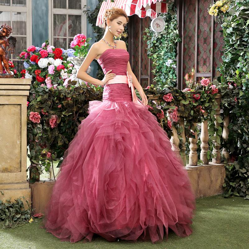 Tube top crystal luxury wedding dress 2015 bridal gown wedding dresses