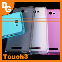 High Quality 4 Colors Clear Pudding TPU Case For K-TOUCH Touch 3 Smartphone Free Shipping With Tracking Number