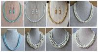 Multy styles  Short Collar Necklace Imitation Pearls fashion body jewelry