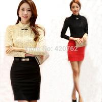 S M L XL XXL 2014 Fashion New Women Tops Autumn Women Crochet Blouse Lace Shirts Women OL Clothing Blusas Femininas Blouses