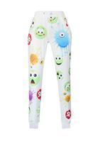 New Emoji Style Pants Cute Emoji Print White/Black Pants LC79572 Long Joggers Trousers Sportswear Autumn/Winter