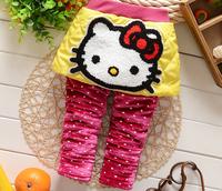 2015 girls Winter leggings Children's winter cotton pants kids baby spring warm trousers children fashion clothes