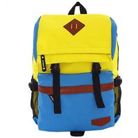 Fashion Panelled High Quality Nylon Women Backpack Mulheres Mochila Girls' Travel Sport Bag Mulheres Saco 5 Colors