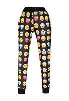 New Emoji Style Pants Women Emoji Print Jogging Pants LC79574 Long Joggers Trousers Sportswear Autumn/Winter