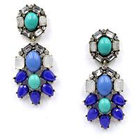 F1207  NEW arrive 2015 Unique costume blue earrings Rhinestone earrings fashion statement earrings for women gift wholesale