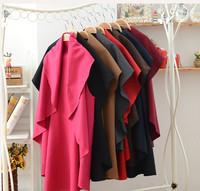 New Arrival Women Cardigan Fashion Ruffly Neck Casual Loose Jacket Outwear Coat Tops 1 Piece