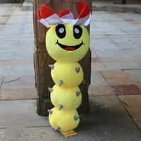 "EMS 20PCS/Lot Free Shipping Super Mario Bros Big Caterpillars Plush Toy Soft Stuffed Doll 13""34CM"