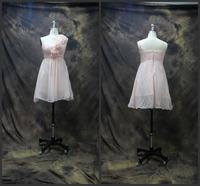 High Quality One Shoulder with Handmade Flowers Short Prom Dresses 2014 vestido de festa Party Dresses for Woman Prom Dress
