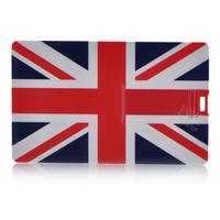 New style Personality UK flag pattern card shape 4GB 8GB 16GB 32GB USB 2.0 Memory Stick Flash Pen Driver U Disk USB566
