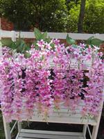 Five forks feelingly hangings hydrangea flower wisteria hanging flower artificial flowers artificial flower arrangement studio