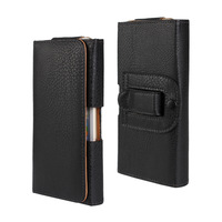1 Pcs Black Pouch Leather Case Belt Clip For Samsung Galaxy Note 4 N9100 Cell Phone Bag
