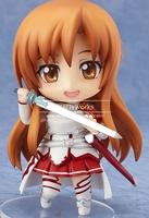 Brand New Nendoroid 10cm Height Cute Anime Figure Sword Art Online SAO Asuna Anime Cute Figure J-0985