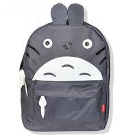 Free shipping eisure vintage cartoon totoro nylon backpack student bag