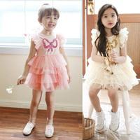 Summer Sequin Baby Girl Dress Toddler Dancing Clothing For Infant Princess Tutu Dress Children's Dresses bow kids Clothes HA057