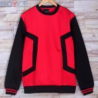 2015 Winter Air Layer Pullover Brand Men Outer Space Cotton Geometric Pattern Red Blazer Hoodies Coat Fashion Hip Hop Sweatshirt