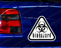 BIOHARD -UMBRELLA Biohazard warning signs of biochemical broken fonts warning sticker car sticker