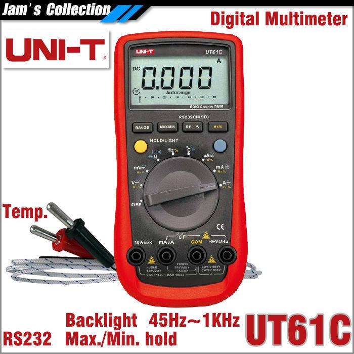 Мультиметр UNI-T UNI/t UT61C RS232C USB 61 C плюшевая маска зайки uni