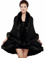 New Arrival Fashion Women's Mock Plush Wrap Top Cardigan Fur Hem Overcoat Fur Jacket Outwear