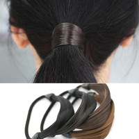 10pcs Lot Straight Hair Ponytail Holders Plaits Stretch Rubber Band Braid Hair Extensions